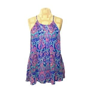 2/$60 Everly Floral Tank Top Size Large